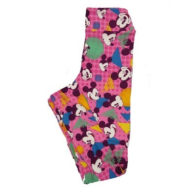 LuLaRoe Tween Disney Mickey Mouse Facial Expressions Leggings Fits Adult Sizes 00-0
