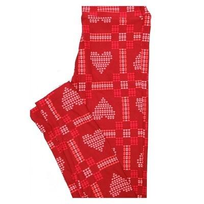LuLaRoe Tween Valentines Hearts of Hearts Leggings Fits Adult Sizes 00-0
