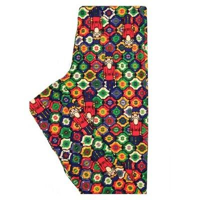 LuLaRoe Tween Christmas Nut Cracker Toy Soldier Geometric Leggings Fits Adult Sizes 00-0