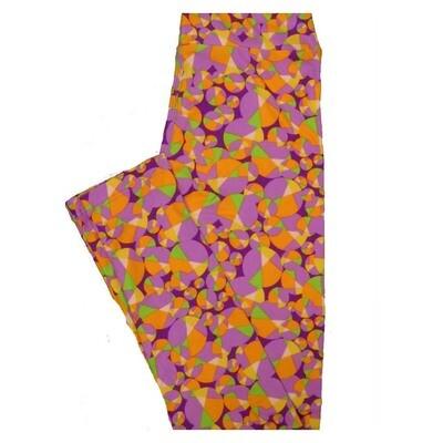 LuLaRoe Tween Geometric Polka Dot Bubbles Leggings Fits Adult Sizes 00-0