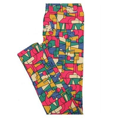 LuLaRoe Tween Geometric Polka Dot Leggings Fits Adult Sizes 00-0