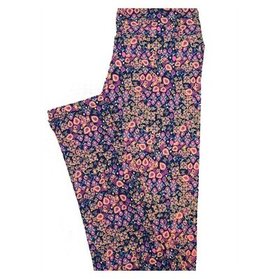 LuLaRoe Tween Floral Geometric Leggings Fits Adult Sizes 00-0