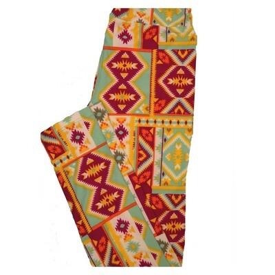 LuLaRoe Tween Diamond Geometric Patchwork Leggings Fits Adult Sizes 00-0
