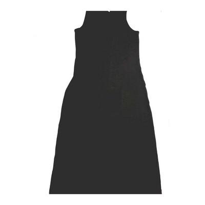 LuLaRoe DANI X-Large XL Solid Black Sleeveless Column Dress fits Womens sizes 14-16