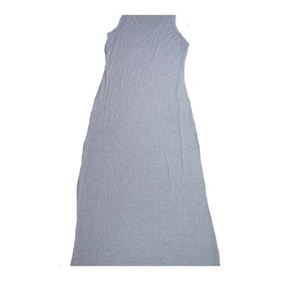 LuLaRoe DANI Medium M Solid Gray Sleeveless Column Dress fits Womens sizes 8-10