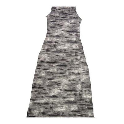 LuLaRoe DANI X-Small XS Abstract Sleeveless Column Dress fits Womens sizes 2-4