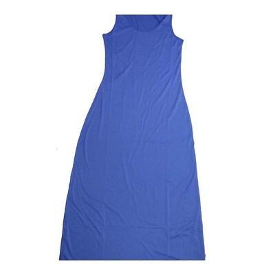 LuLaRoe DANI Medium M Solid Blue Sleeveless Column Dress fits Womens sizes 8-10