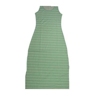 LuLaRoe DANI X-Small XS Green White Stripe Sleeveless Column Dress fits Womens sizes 2-4