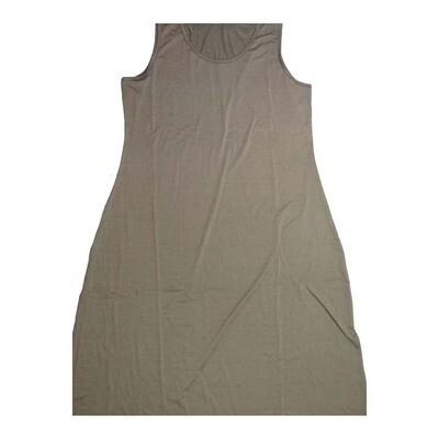 LuLaRoe DANI XX-Large 2XL Solid Green Sleeveless Column Dress fits Womens sizes 18-22