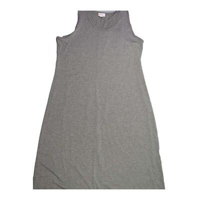 LuLaRoe DANI XX-Large 2XL Solid Gray Sleeveless Column Dress fits Womens sizes 18-22