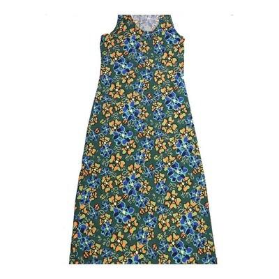 LuLaRoe DANI Medium M Floral Polka Dot Sleeveless Column Dress fits Womens sizes 8-10