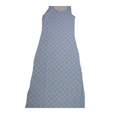 LuLaRoe DANI Small S Geometric Squares Sleeveless Column Dress fits Womens sizes 6-8