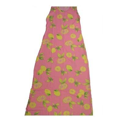 LuLaRoe DANI Small S Lemons and Lemon Slices Sleeveless Column Dress fits Womens sizes 6-8