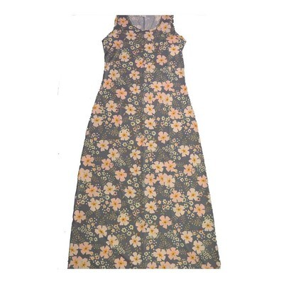 LuLaRoe DANI Small S Floral Sleeveless Column Dress fits Womens sizes 6-8