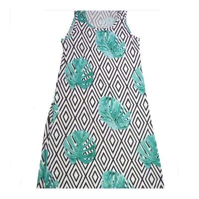 LuLaRoe DANI X-Large XL Floral Diamond Geometric Sleeveless Column Dress fits Womens sizes 14-16