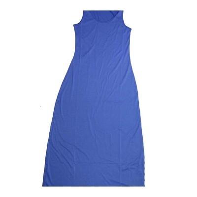 LuLaRoe DANI X-Small XS Solid Blue Sleeveless Column Dress fits Womens sizes 2-4