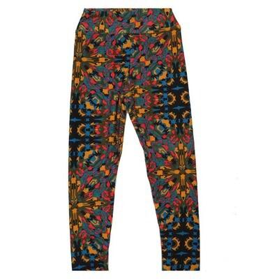LuLaRoe Kids Small Medium S-M (SM) Geometric Trippy Psychedelic Mandala Leggings fits Kids sizes 2-6