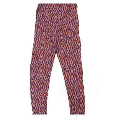LuLaRoe Kids Small Medium S-M (SM) Geometric Trippy Psychedelic Leggings fits Kids sizes 2-6