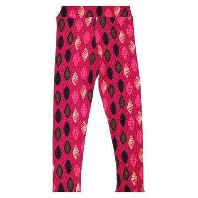 LuLaRoe Kids Small Medium S-M (SM) Leaves Stripe Leggings fits Kids sizes 2-6
