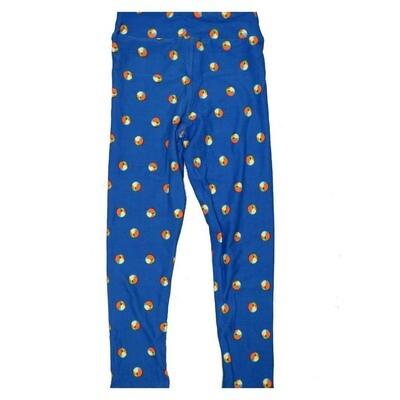 LuLaRoe Kids Small Medium S-M (SM) Polka Dot Leggings fits Kids sizes 2-6