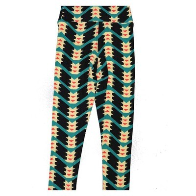 LuLaRoe Kids Small Medium S-M (SM) Stripe Zig Zag Arrows Leggings fits Kids sizes 2-6