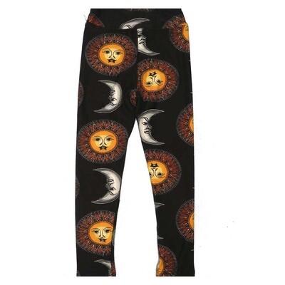 LuLaRoe Kids Small Medium S-M (SM) Sun Crescent Moon Leggings fits Kids sizes 2-6