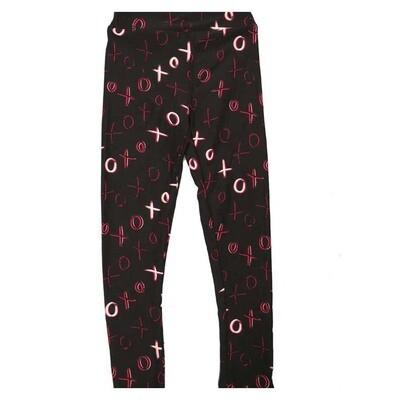 LuLaRoe Kids Small Medium S-M (SM) Valentines XO XO Leggings fits Kids sizes 2-6