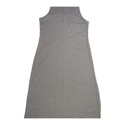 LuLaRoe DANI X-Large XL Solid Gray Sleeveless Column Dress fits Womens sizes 14-16