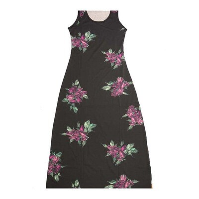 LuLaRoe DANI X-Small XS Roses Floral Sleeveless Column Dress fits Womens sizes 2-4