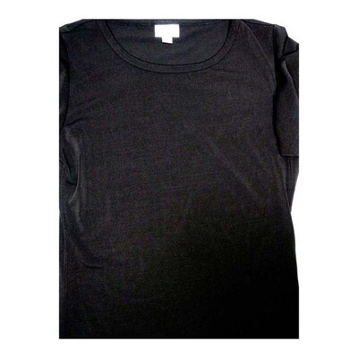 LuLaRoe GIGI Medium M Solid Black Fitted Tee fits Women sizes 8-10