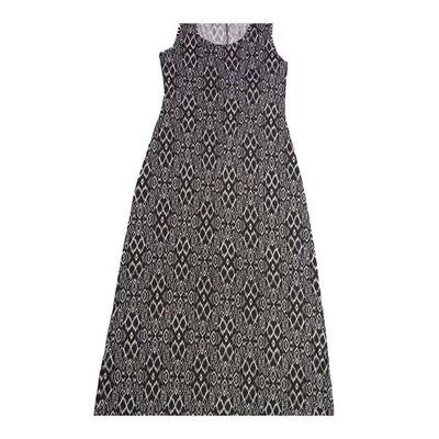 LuLaRoe DANI Small S Black and White Snakeskin Like Pattern Geometric Sleeveless Column Dress fits Womens sizes 6-8