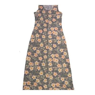 LuLaRoe DANI X-Large XL Floral Sleeveless Column Dress fits Womens sizes 14-16