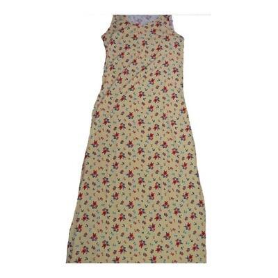LuLaRoe DANI X-Small XS Floral Sleeveless Column Dress fits Womens sizes 2-4