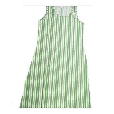 LuLaRoe DANI X-Large XL Green White Stripe Sleeveless Column Dress fits Womens sizes 14-16