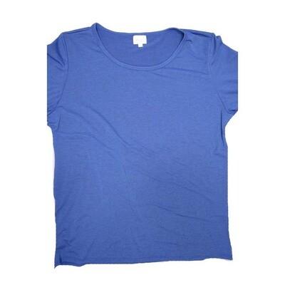 LuLaRoe GIGI XXX-Large 3XL Solid Blue Fitted Tee fits Women sizes 24-26