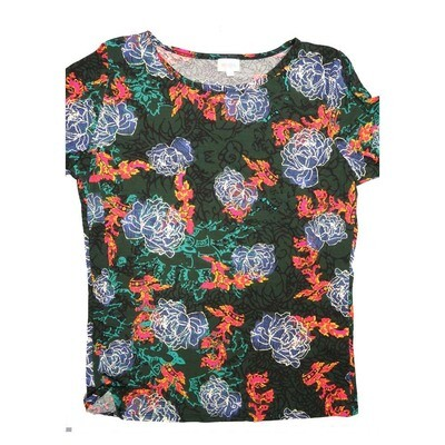 LuLaRoe GIGI XX-Large 2XL Floral Fitted Tee fits Women sizes 20-22