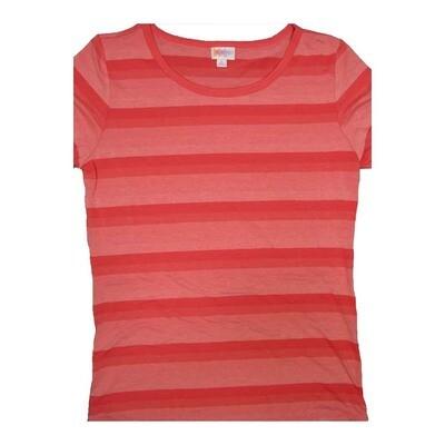LuLaRoe GIGI Large L Stripe Ribbed Fitted Tee fits Women sizes 12-14