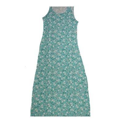 LuLaRoe DANI Small S Floral Polka Dot Sleeveless Column Dress fits Womens sizes 6-8