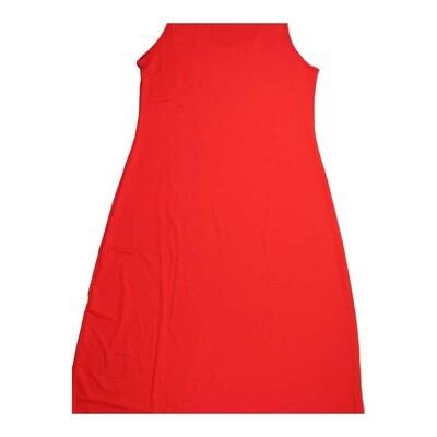 LuLaRoe DANI X-Large XL Solid Red Sleeveless Column Dress fits Womens sizes 14-16