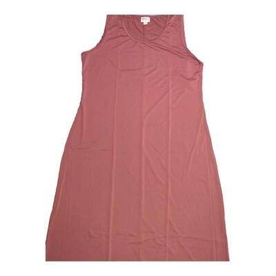 LuLaRoe DANI XX-Large 2XL Solid Sleeveless Column Dress fits Womens sizes 18-22