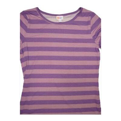 LuLaRoe GIGI X-Large XL Striped Fitted Tee fits Women sizes 16-18
