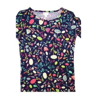 LuLaRoe GIGI Small S Floral Fitted Tee fits Women sizes 4-6