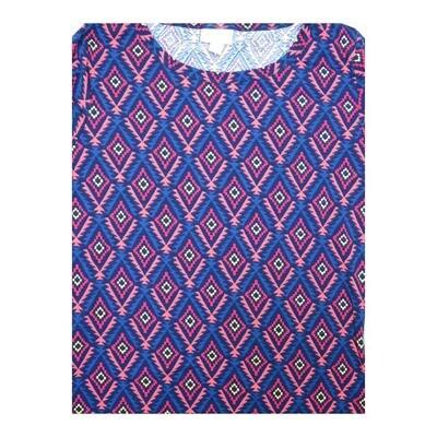 LuLaRoe GIGI Small S Diamond Stripe Geometric Fitted Tee fits Women sizes 4-6