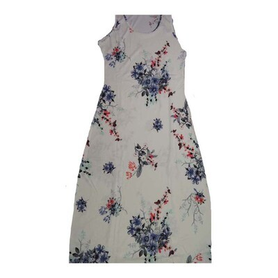 LuLaRoe DANI XXX-Large 3XL Floral Sleeveless Column Dress fits Womens sizes 22-24