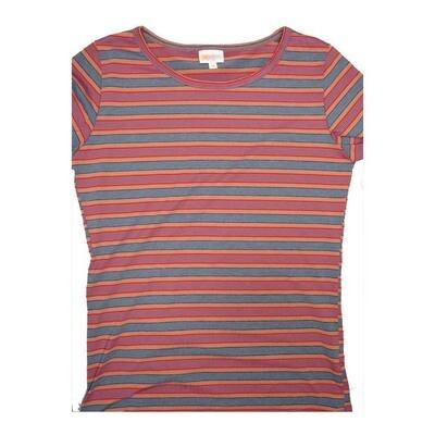 LuLaRoe GIGI Medium M Stripe Tee fits Women sizes 8-10