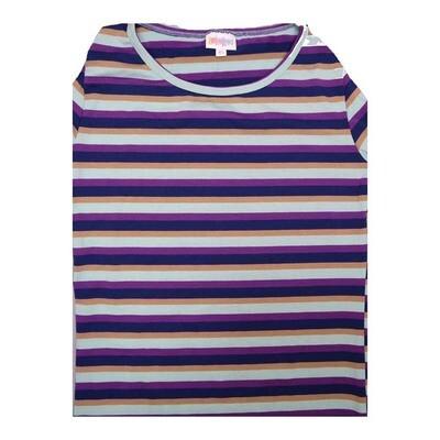 LuLaRoe GIGI X-Small XS Stripe Fitted Tee fits Women sizes 2-4