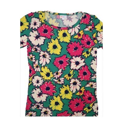 LuLaRoe GIGI Small S Christmas Floral Fitted Tee fits Women sizes 4-6