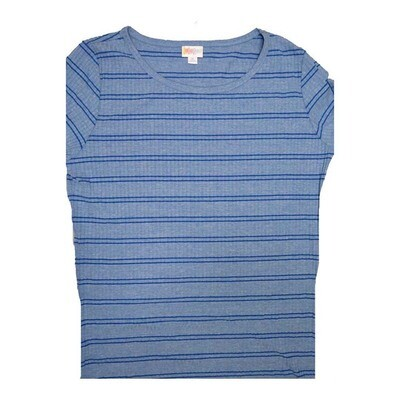 LuLaRoe GIGI X-Large XL Striped and Ribbed Fitted Tee fits Women sizes 16-18