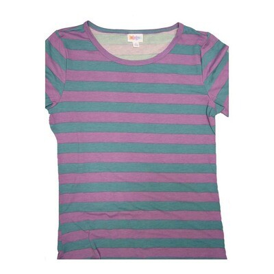 LuLaRoe GIGI Large L Stripe Fitted Tee fits Women sizes 12-14