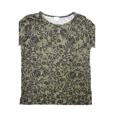 LuLaRoe GIGI XXX-Large 3XL Floral Fitted Tee fits Women sizes 24-26